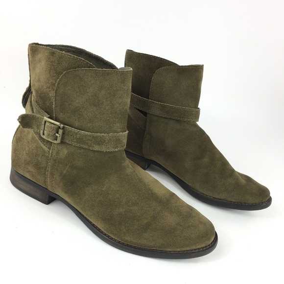 63dc6ea01df9 Sam Edelman Malone Olive Green Suede Ankle Booties.  M 5b3a8a83409c153a7c6fb1e3